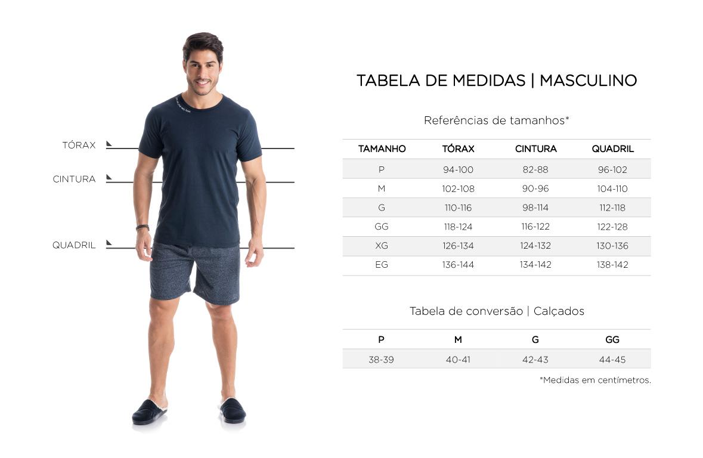 Tabela de Medidas - Masculino