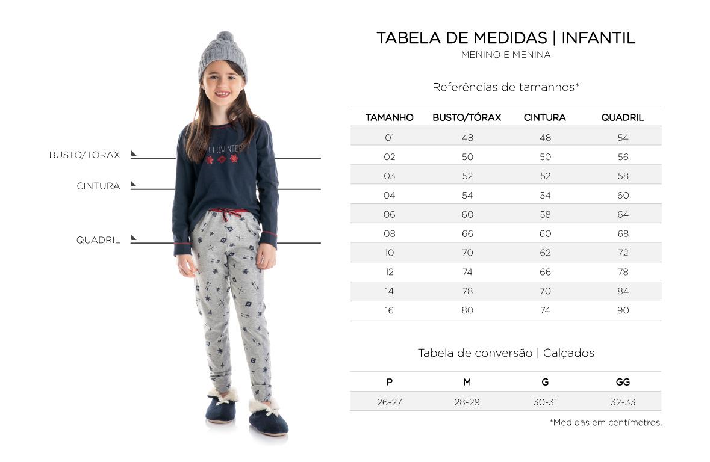 Tabela de Medidas - Infantil