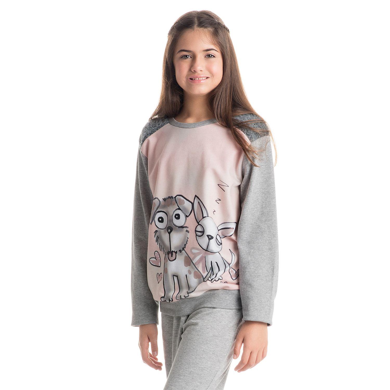 3db00a5ff Pijama Friends Longo Infantil - danielatombini