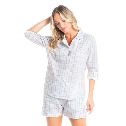 Pijama-Abotoado-Curto-Em-Algodao-Egipicio-Tereza-Daniela-Tombini