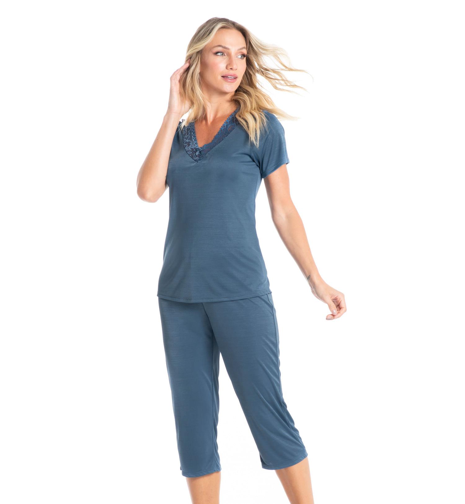 Pijama Pescador Com Renda Diane