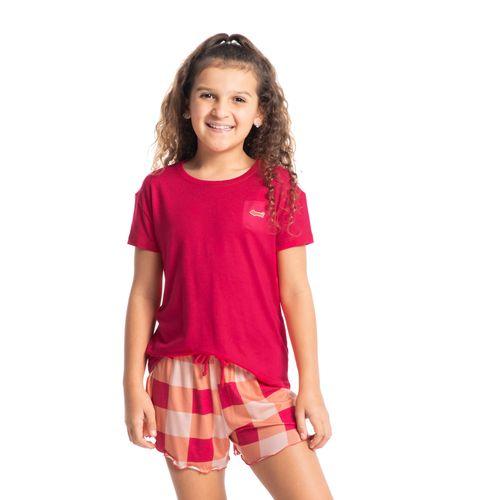 Pijama-Infantil-Feminino-Curto-Xadrez-Pop-Daniela-Tombini