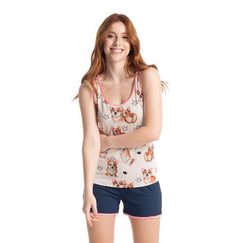 Pijama-Regata-Curto-Estampado-Corgi-Daniela-Tombini
