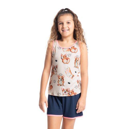 Pijama-Infantil-Feminino-Regata-Estampado-Corgi-Daniela-Tombini