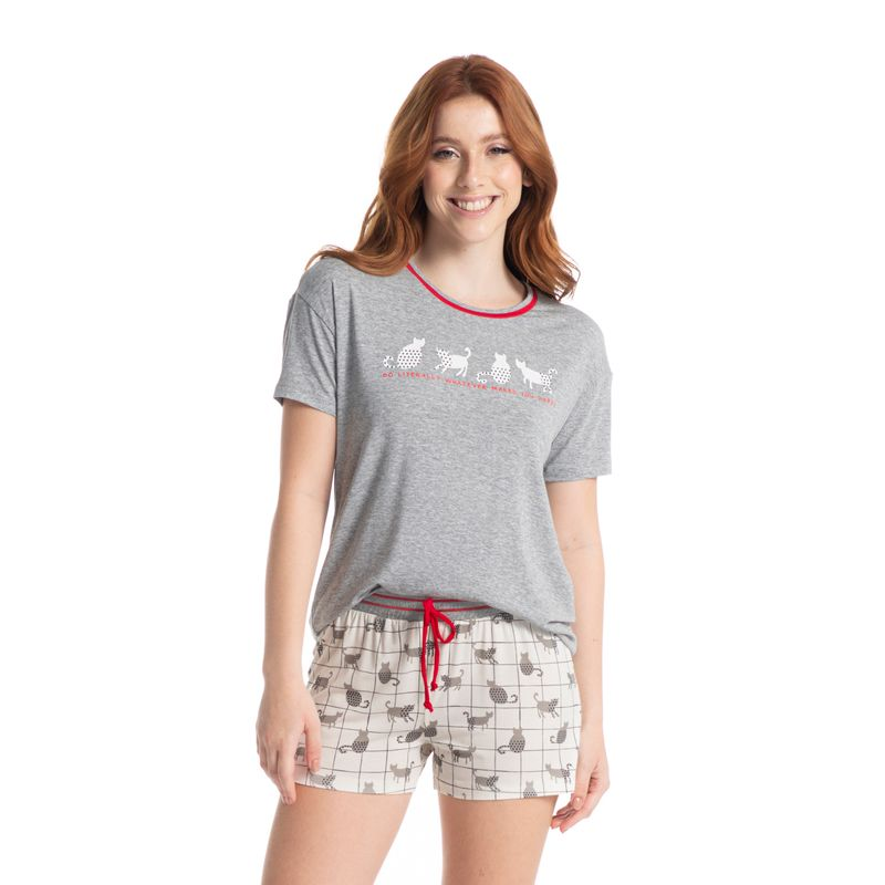 Pijama-Curto-Fun-Cats-Daniela-Tombini
