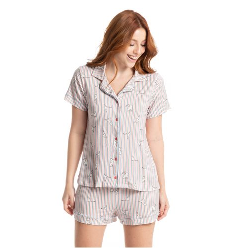 Pijama-Abotoado-Curto-Estampado-Cats-Daniela-Tombini