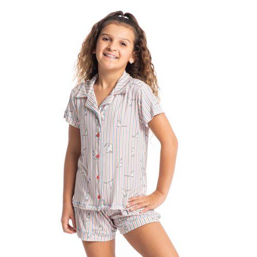 Pijama-Infantil-Feminino-Abotoado-Curto-Cats-Daniela-Tombini