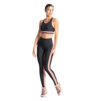 legging yoga rosa
