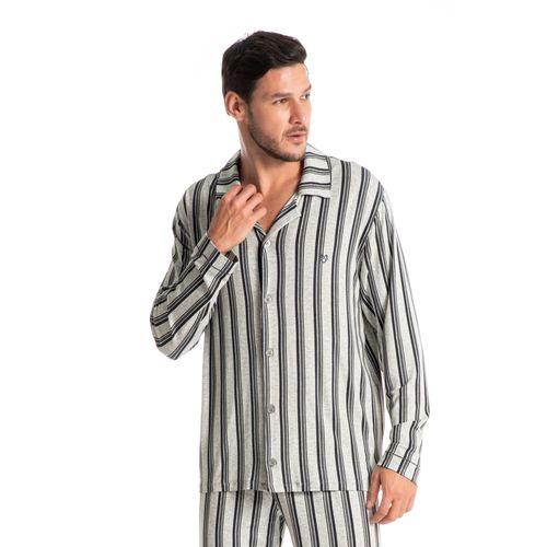 Pijama-Masculino-Abotoado-Estampado-Longo-Guilherme-daniela-tombini