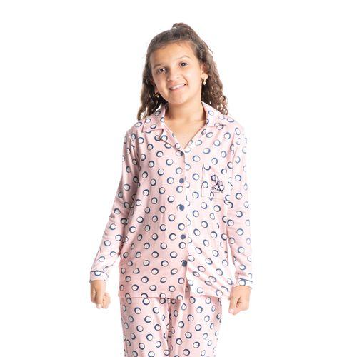 Pijama-Infantil-Feminino-Abotoado-Longo-Poa-Bunny-Daniela-Tombini