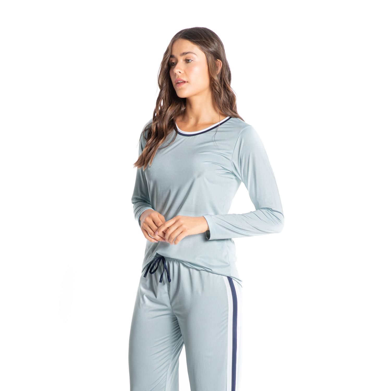 Pijama Longo Com Recortes Marília