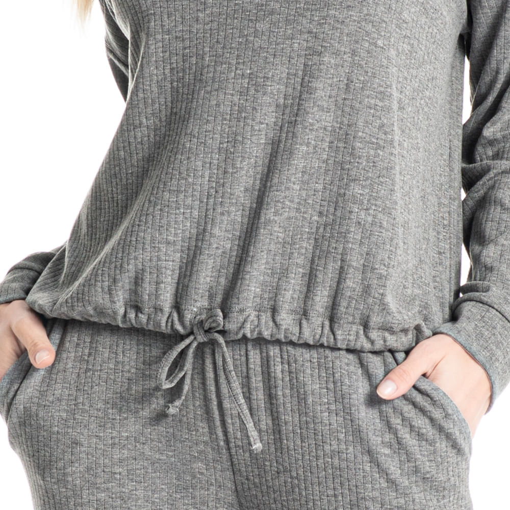 Pijama Longo Com Bolso Estela
