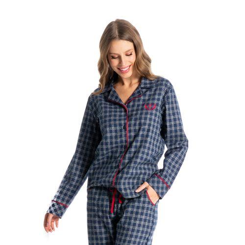 Pijama-Longo-Xadrez-Abotoado-Silvia-Daniela-Tombini