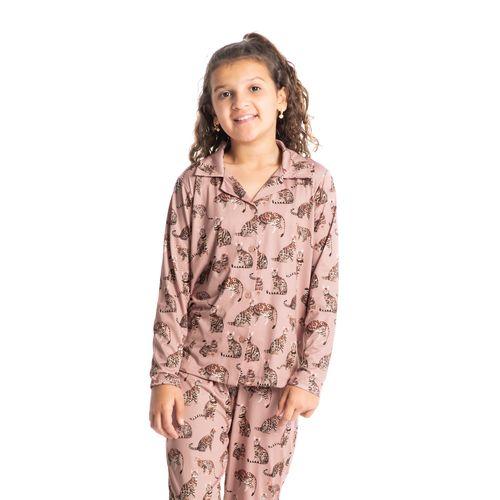 Pijama-Infantil-Feminino-Longo-Abotoado-Estampado-Meg-Daniela-Tombini