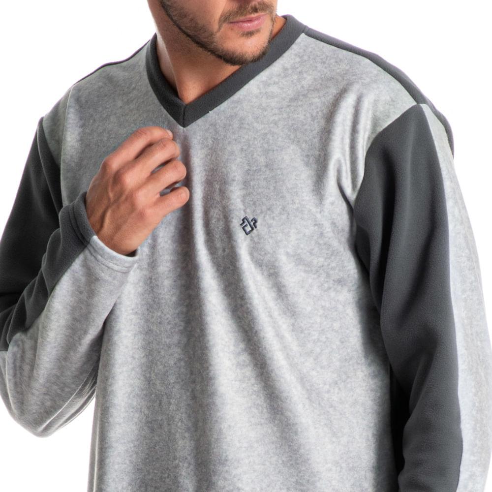 Pijama Masculino Longo Em Microsoft Davi