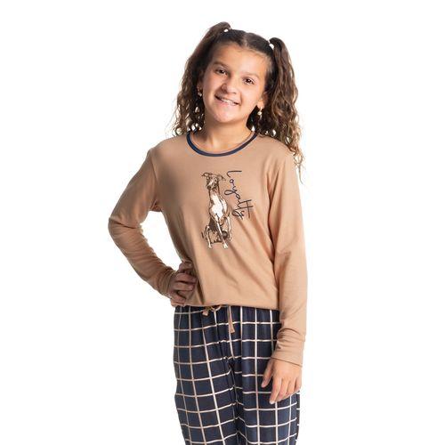 Pijama-Infantil-Feminino-Xadrez-Longo-Loyalty-Daniela-Tombini