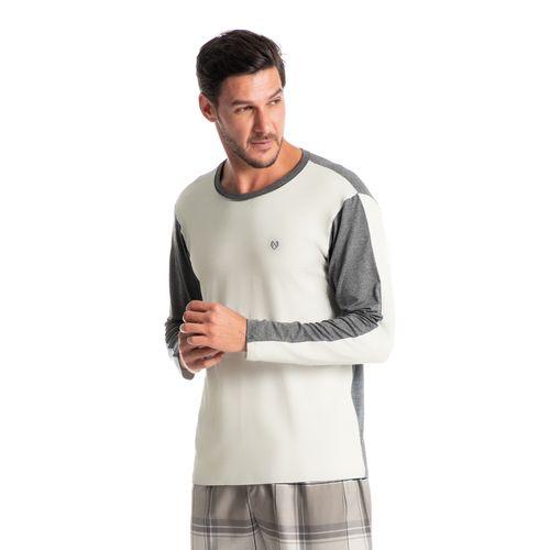 Pijama-Masculino-Longo-Xadrez-Grey-Daniela-Tombini