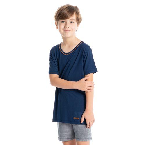 Pijama-Infantil-Masculino-Xadrez-Curto-Pedro-Daniela-Tombini