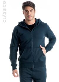jaqueta masculina de moletom preto.