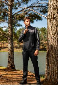casaco moletom masculino com zíper preto e cinza.