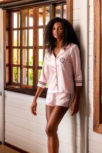 pijama curto feminino de cetim