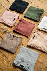 blusa casual básica várias cores