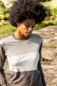 blusa manga longa casual feminina