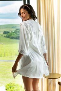 lingerie para noivas branca