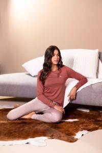 pijama legging feminino estampado