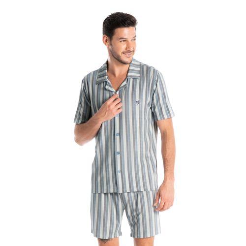 Pijama-Masculino-Abotoado-Curto-Leonardo-Daniela-Tombini