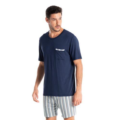 Pijama-Masculino-Com-Bolso-Estampado-Curto-Leonardo-Daniela-Tombini