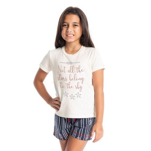 Pijama-Infantil-Feminino-Curto-Estampado-Cordas-Daniela-Tombini