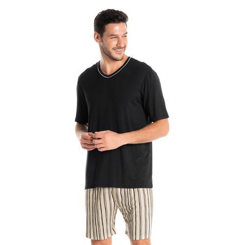 Pijama-Masculino-Decote-V-Curto-Estampado-Stripes-Daniela-Tombini