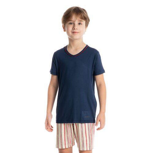 Pijama-Infantil-Masculino-Curto-Estampado-Stripes-Daniela-Tombini