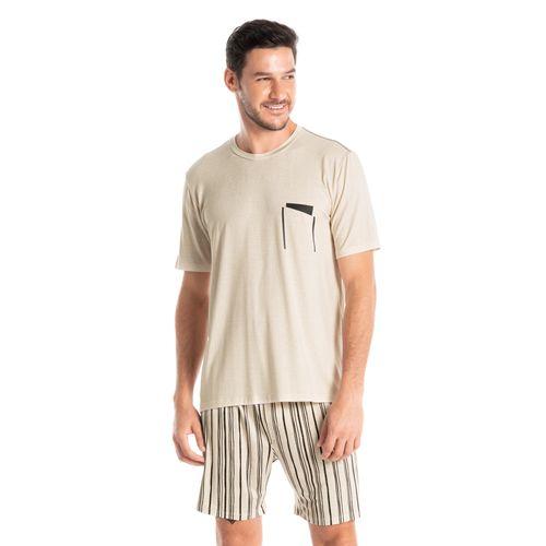 Pijama-Masculino-Gola-Redonda-Curto-Estampado-Stripes-Daniela-Tombini
