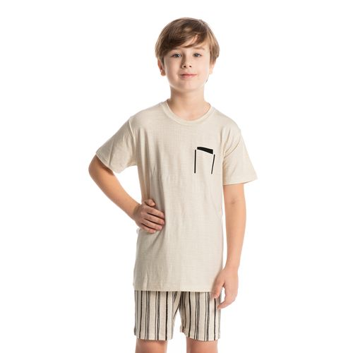 Pijama-Infantil-Masculino-Gola-Redonda-Curto-Estampado-Stripes-Daniela-Tombini