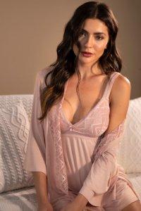 camisola feminina longa rosa