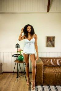 short doll com renda branco