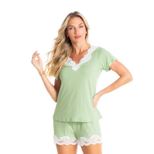 Pijama-Curto-Com-Renda-Green-Daniela-Tombini