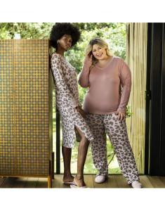 roupas de dormir plus size rosa em poá