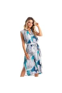 chemise estampado azul tropical