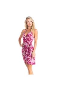 vestido envelope curto rosa