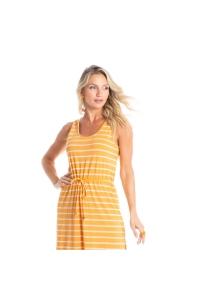 vestido midi casual amarelo
