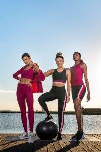 top fitness com bojo rosa