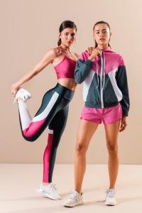 short running feminino rosa