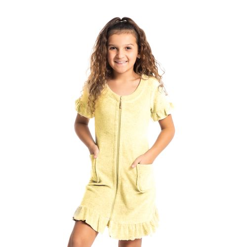 Robe-Infantil-Feminino-Curto-Em-Atoalhado-Lily-Amarelo-Daniela-Tombini