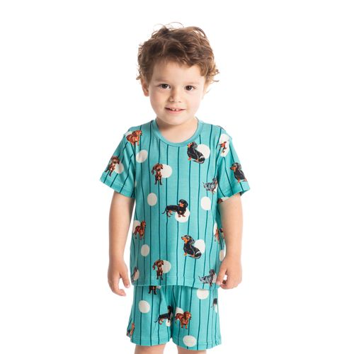 Pijama-Infantil-Unissex-Curto-Estampado-Pipo-Daniela-Tombini