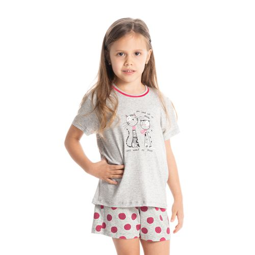 Pijama-Infantil-Feminino-Curto-Cat-Funny-Daniela-Tombini